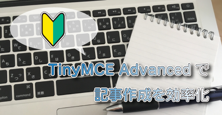 TinyMCE Advancedのエディタを設定
