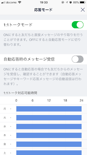 Line@1:1トークモード